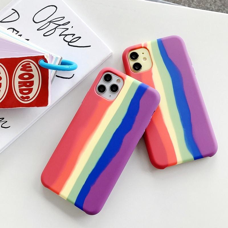 iphone8plus เคสโทรศัพท์ iphone ซิลิโคน iphone se iphonexr เคส iphone xs max apple iphone 8 plus 64gb เคส iphone xr รุ้ง แฟชั่น