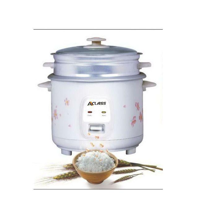❍ACLASS หม้อหุงข้าว 1.8 ลิตร รุ่น RC-1803พร้อมซึงนึ่งอาหาร คละสี