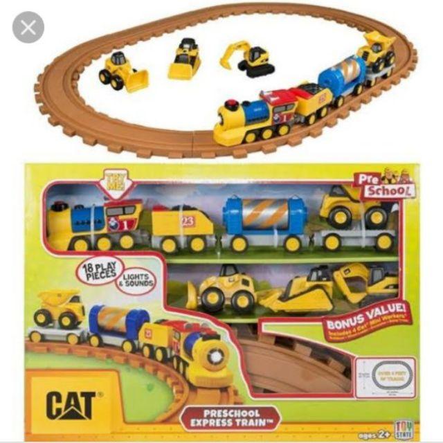 เซตรถไฟ CAT พร้อมรางของแท้ วิ่งได้มีเสียง