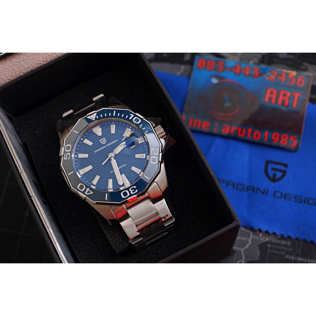 PAGANI DESIGN PD1617 นาฬิกา automatic  กระจก Sapphire sBeW