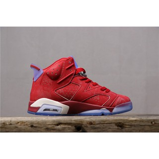 the best attitude eaca3 0cf49 Air Jordan 6 AJ6 Joe 6 Slam Dunk Red Sakuragi Flower Road 717302-600  รองเท้าบาสเก็ตบอล