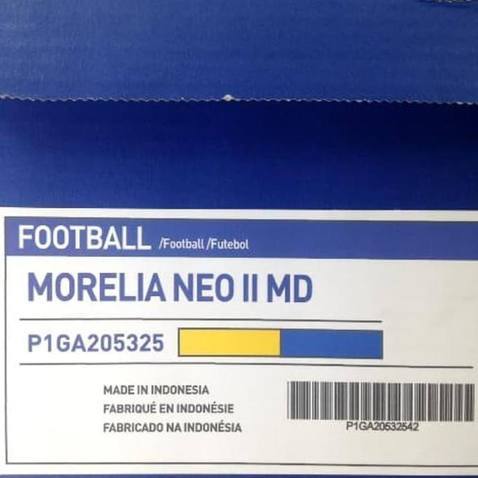 รองเท้าฟุตบอล Mizuno Morelia Neo Ii Md P1ga205325 สีเหลืองฟ้า