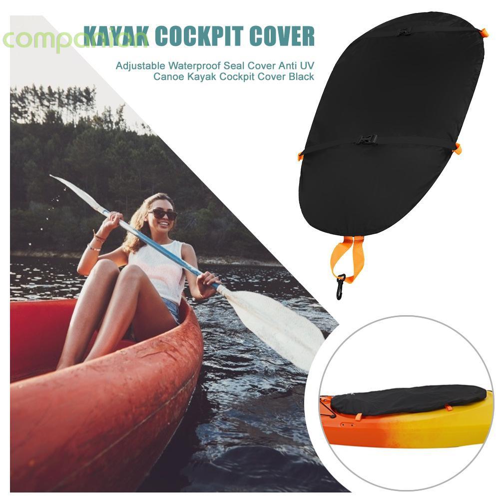 Kayak Cockpit Cover Waterproof Dustproof Durable Adjustable Kayak Canoe Cockpit Protective Cover