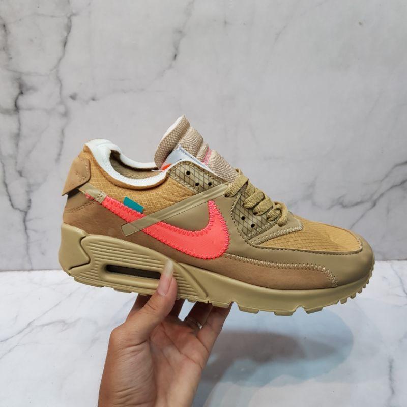 Nike Airmax 90 X Off รองเท้าผ้าใบลําลองสีขาวพรีเมี่ยม