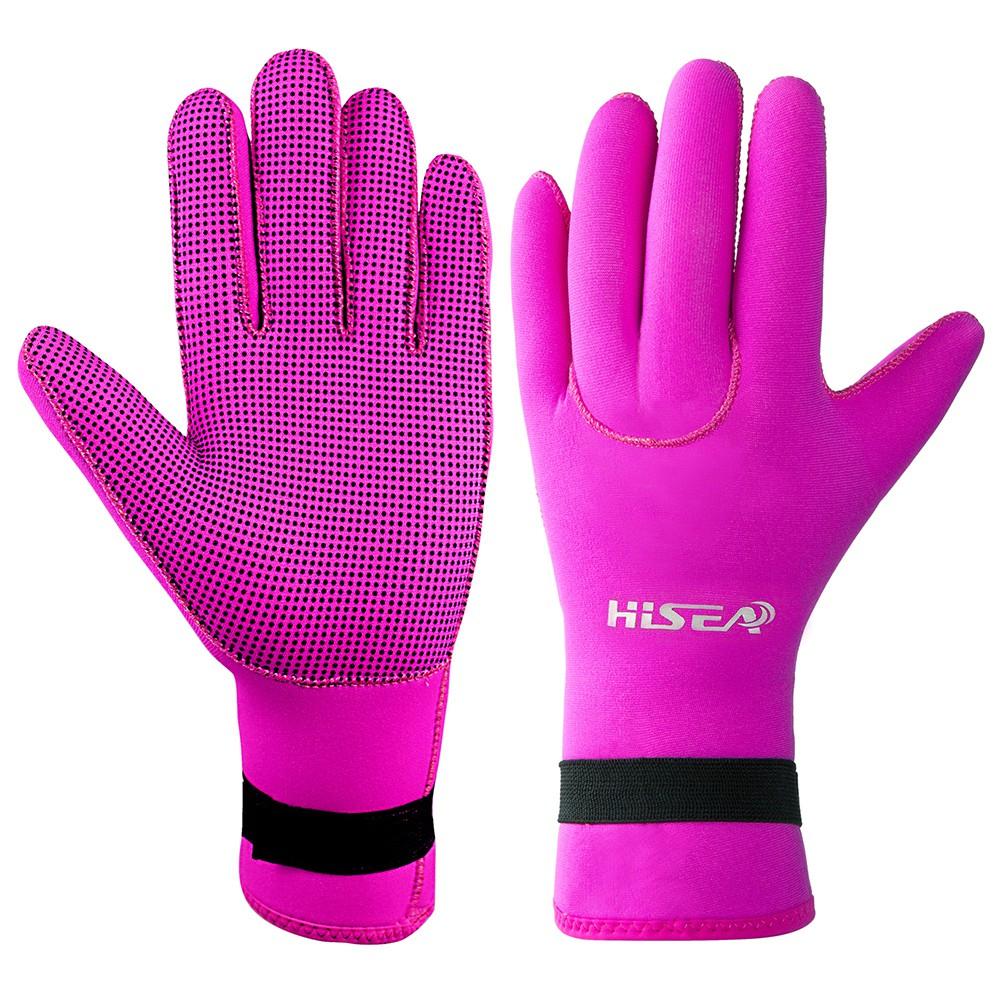 Black//Pink 1.5mm Neoprene Diving Scuba Wetsuit Gloves Spearfishing Kayaking