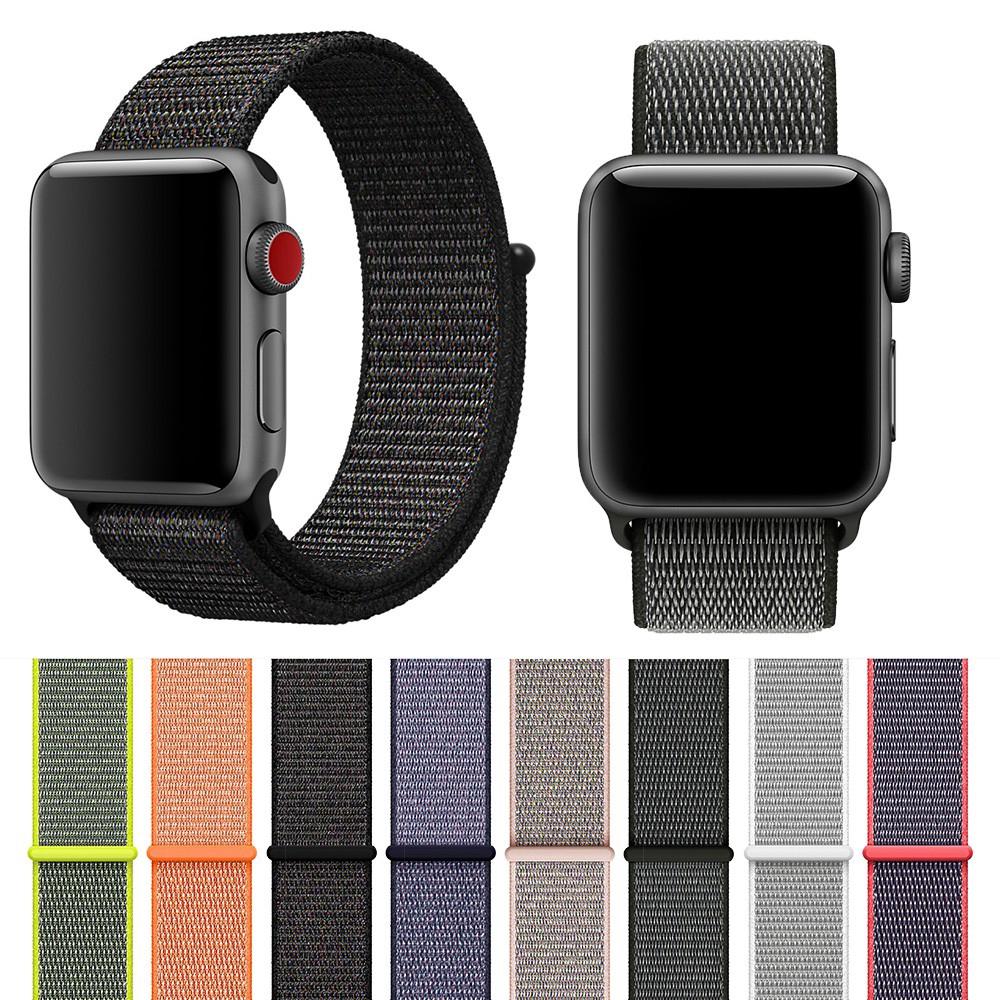 Apple Watch 5 4 3 2 1 Nylon Loop สายนาฬิกาข้อมือ iWatch Series 5 42 มม. 38 มม. 40 มม. 44 มม ไนลอน applewatch band