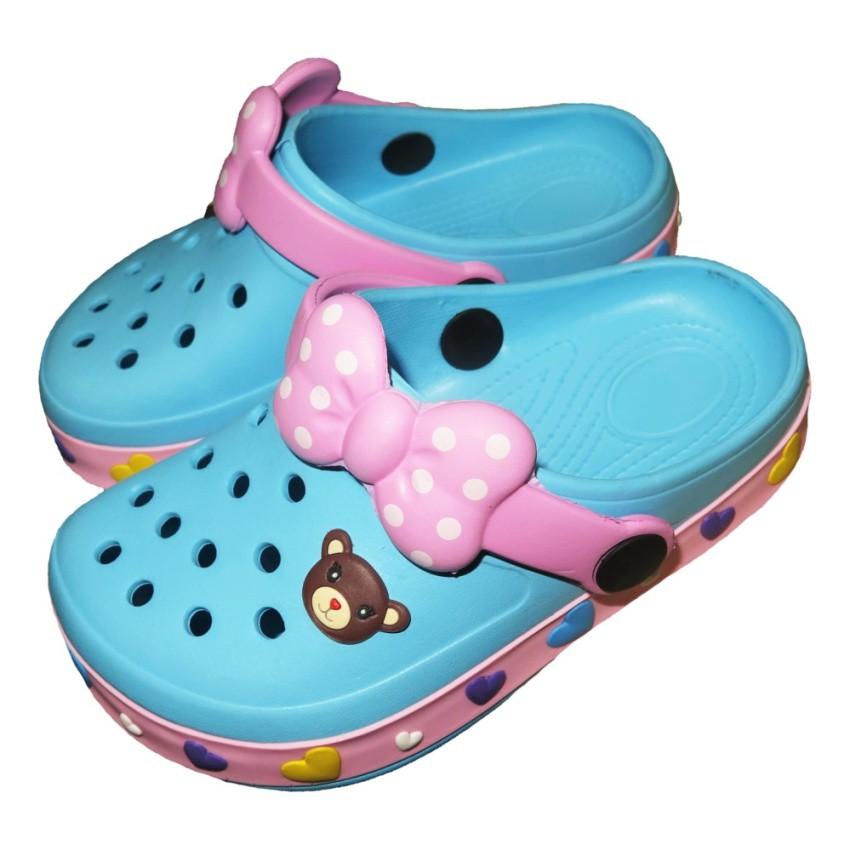 รองเท้าแตะ Prado Gang รองเท้าคัชชู ไฟล่อน สวม เด็กผู้หญิง รุ่น 373 - สี ฟ้า