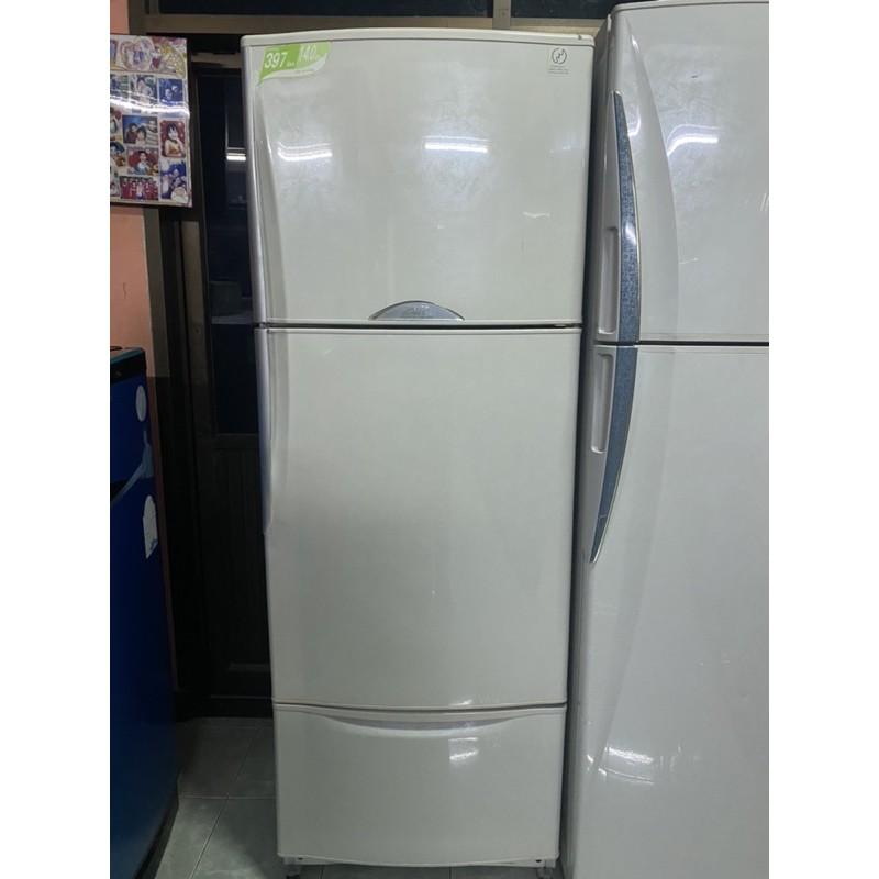 ตู้เย็นมือสอง 3ประตู14คิวสวยๆมีประกันพร้อมใช้งาน