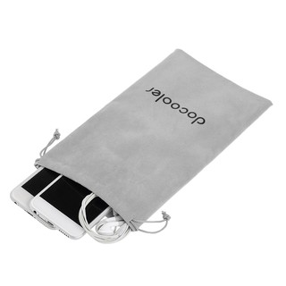Review 【WM】Docooler Storage Bag Carrying Bag Small Drawstring Flocked Protection Pouch Grey 13.5*23.5CM