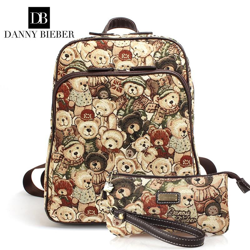 2019 ใหม่ Danny Bear รับรองแฟชั่นกระเป๋าคอมพิวเตอร์กระเป๋านักเรียนแฟชั่นกระเป๋าหญิง