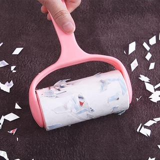 Tear type sticky paper roller sticky wool device clothing sticky wool dust removal paper with clothing brush to remove t