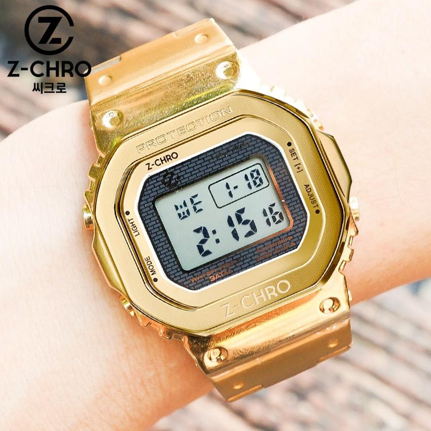 🎉โปรโมชั่นสุดคุ้ม 🎉 Z-CHRO นาฬิกาข้อมือ สายสแตนเลส หน้า GMW-B5000 ฉลอง CASIO ครบ 35 ปี ตั้งปลุก จับเวลาได้ รุ่น 71801