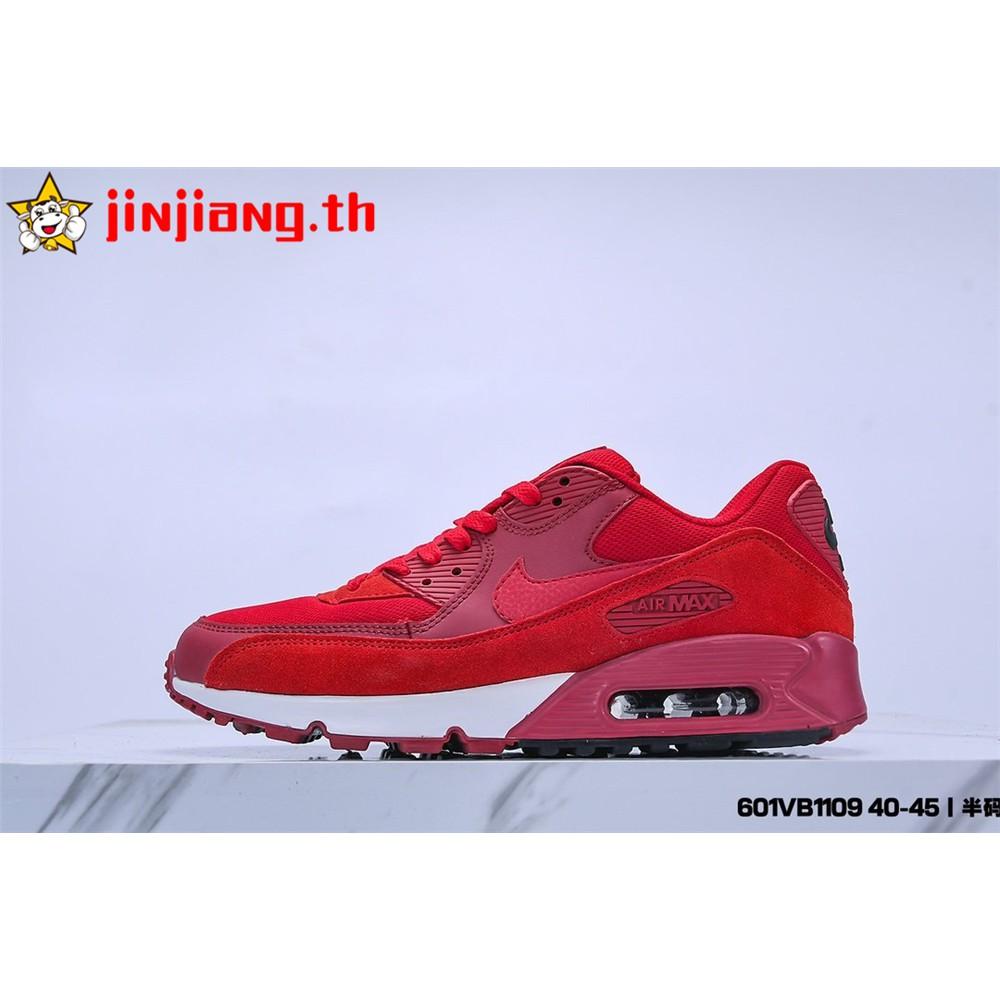 แท้จริง Nike Air Max 90 Essential เบาะลม รองเท้าวิ่ง ระบายอากาศ รองเท้ากีฬา รองเท้าผู้ชาย แฟชั่น รองเท้าลำลอง