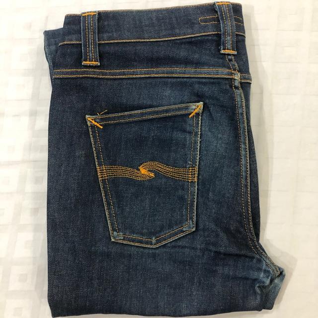 Nudie Jeans Tape Ted 16 Dips Dry กางเกงยีนส์ นูดี้ มือสอง สภาพ 99.99% ของเเท้เเน่นอน