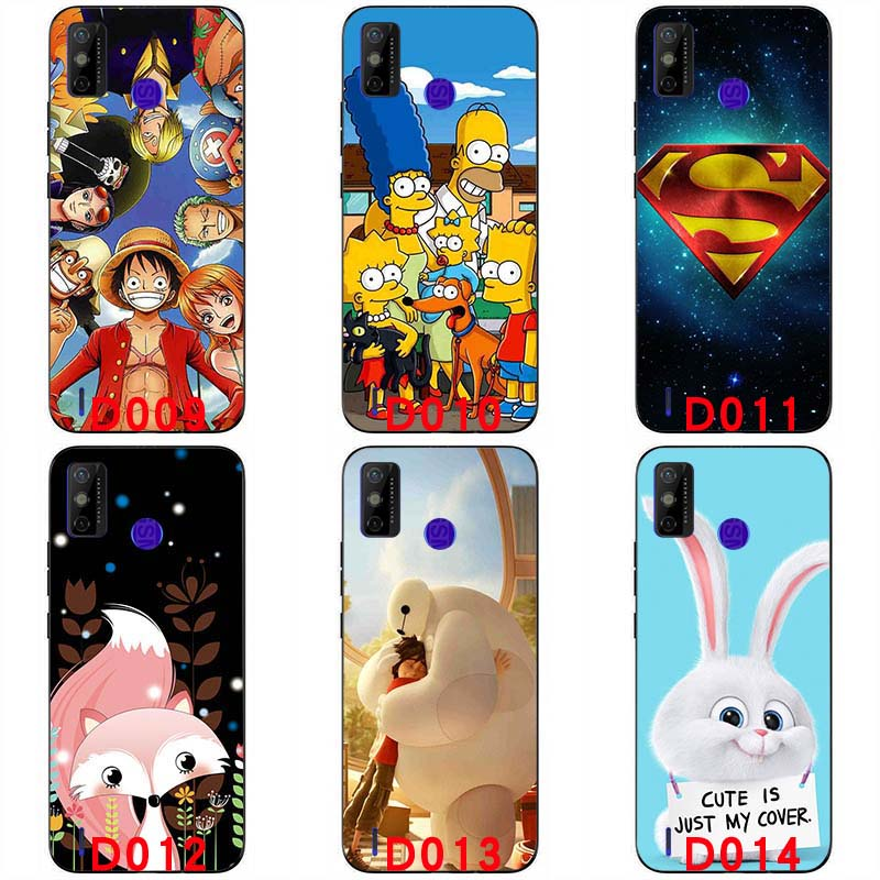 Soft silicone painted print case soft TPU Back cover For Tecno Spark 6 GO handphone case 6.52 inch Protective shell