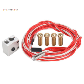 Eruption Heat Block Cartridge Heater 12V40W Nozzles Thermistor Sensors HotEnd for E3D V5 V6 3D Printer Parts 1.75mm Kit
