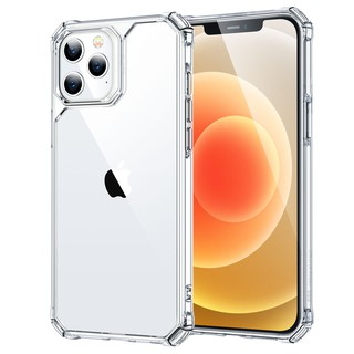 ESR Air Armor Designed for iPhone 12 mini/iPhone 12/12 Pro Max Case Shock-Absorbing Scratch-Resistant Military Grade Protection Hard Polycarbonate + Flexible Polymer Frame, for iPhone 12 Mini 2020, 5.4-Inch – Clear