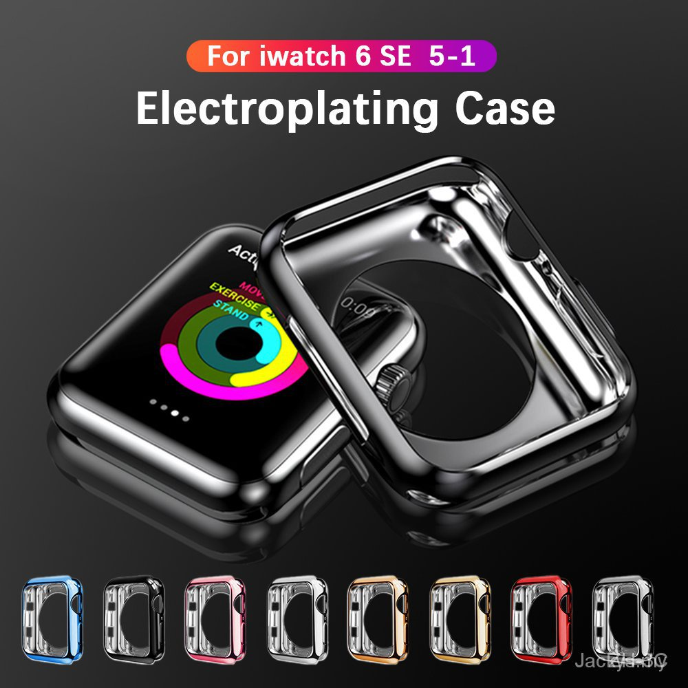 【24H SHIPS】Plating Protective Cover Case for iwatch series 6 5 4 3 2 1 apple watch 44mm 40mm 38mm 42mm Soft TPU Ultra-Slim Scratch case