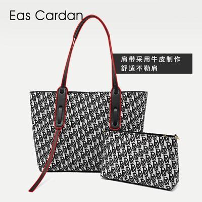 กระเป๋า EC Tott กระเป๋าผ้าใบสำหรับผู้หญิงกระเป๋าสายตายด้านยาวความจุขนาดใหญ่กระเป๋าใบเล็กแบบพกพาสำหรับเดินทางบรรยากาศเรีย