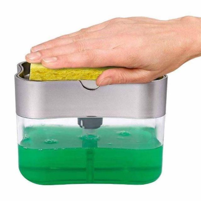 ที่ปั๊มน้ำยาล้างจานพร้อมฟองน้ำ