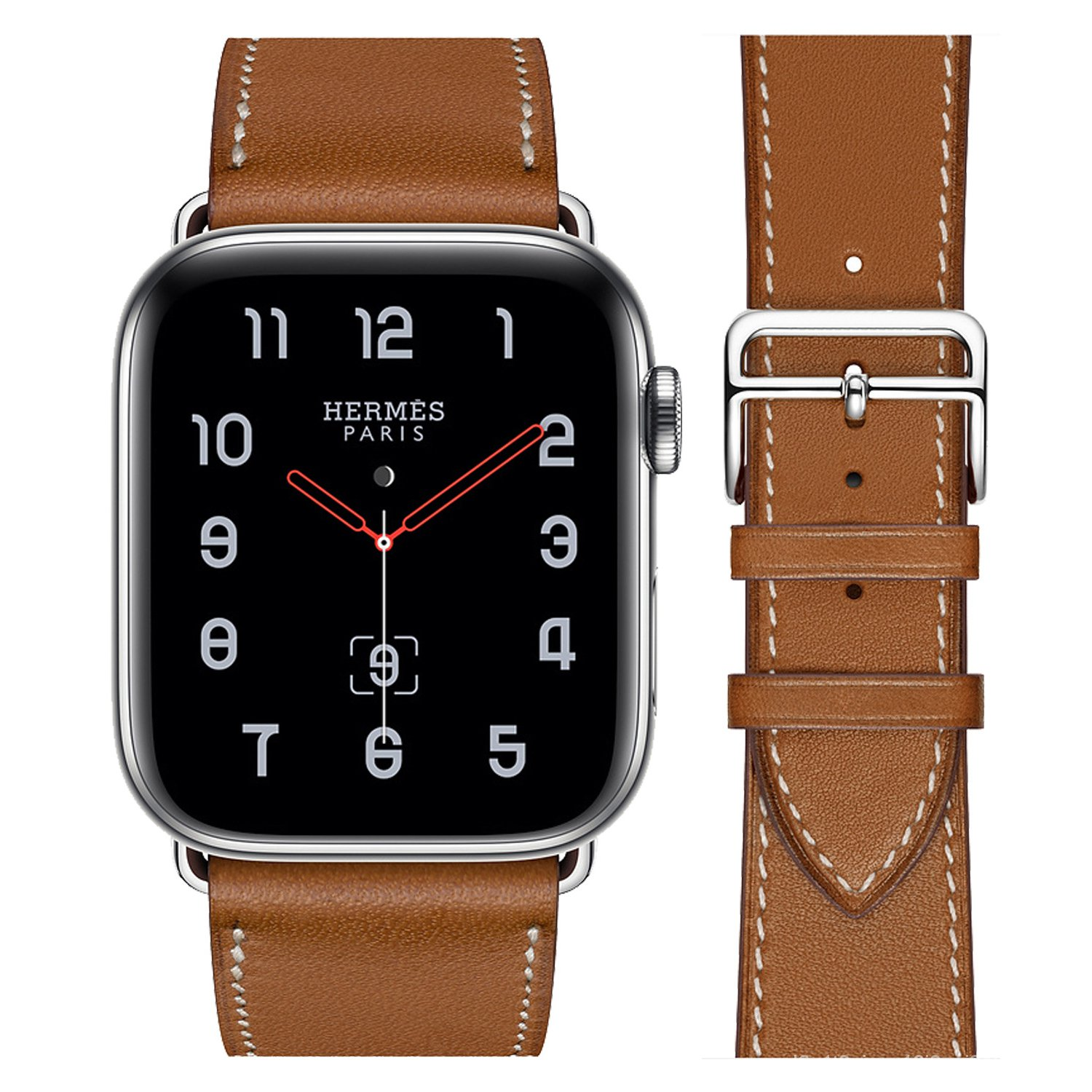 Strap for Apple Watch Series 4 5 6 Band 44mm 40mm Classic Buckle Leather Watchband for iWatch 3 2 1 42mm 38mm Bracelet L