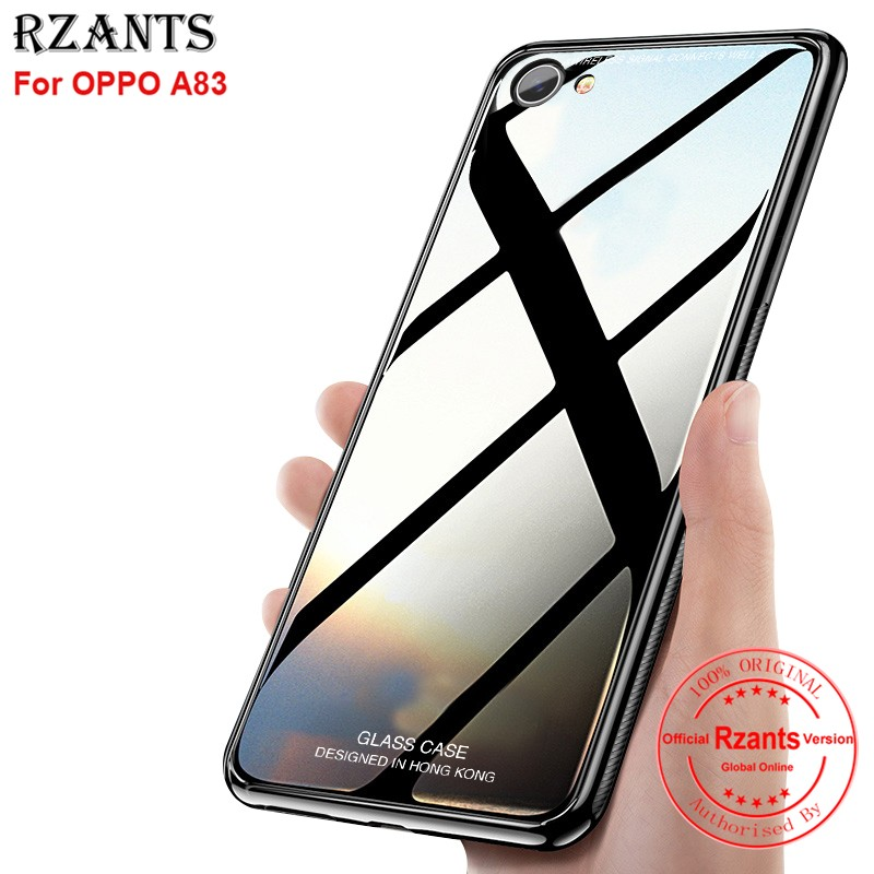 official photos 6f17a 5cc6e OPPO A83 เคส Hard Case with Tempered Glass Back + Soft Edge Slim Shockproof  Cover