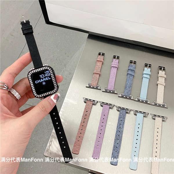 สาย applewatch สายรัด iwatch เหมาะสำหรับ apple watch applewatch651234 รุ่นไนลอนบางสายรัดผ้าใบเอวเล็ก