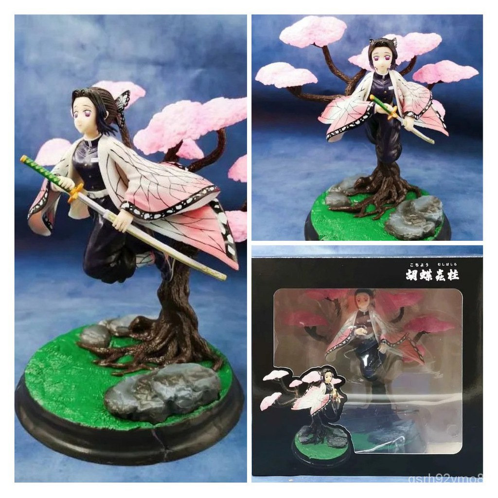 Anime 25cm Demon Slayer Kimetsu no Yaiba Kochou Shinobu Flying osture VC Action Figure Rengoku Kyoujurou Collection Mode