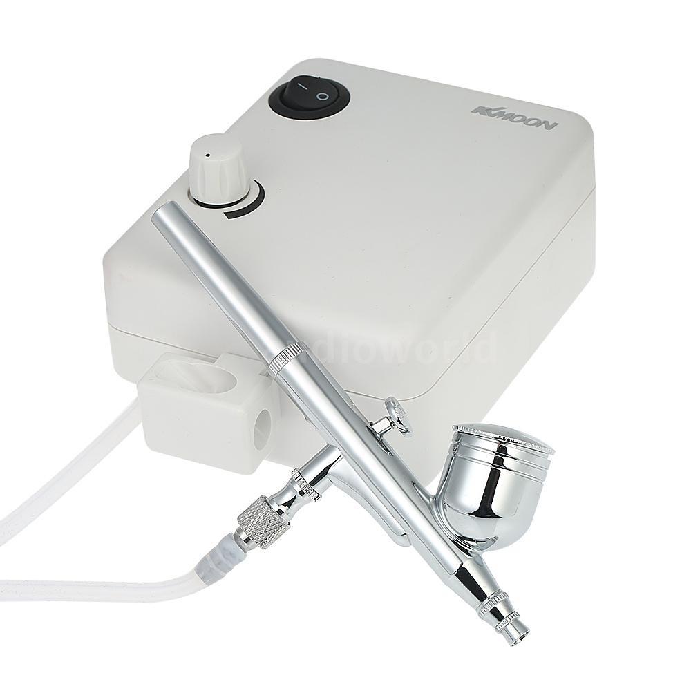 Portable Airbrush Compressor Kit Mini 0.4mm Spray Gun Tattoo Paint Craft Art Set