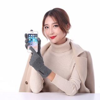Review LK❈1 Pair Women Fashion Touch Screen Outdoor Sport Winter Warm Buttons Gloves