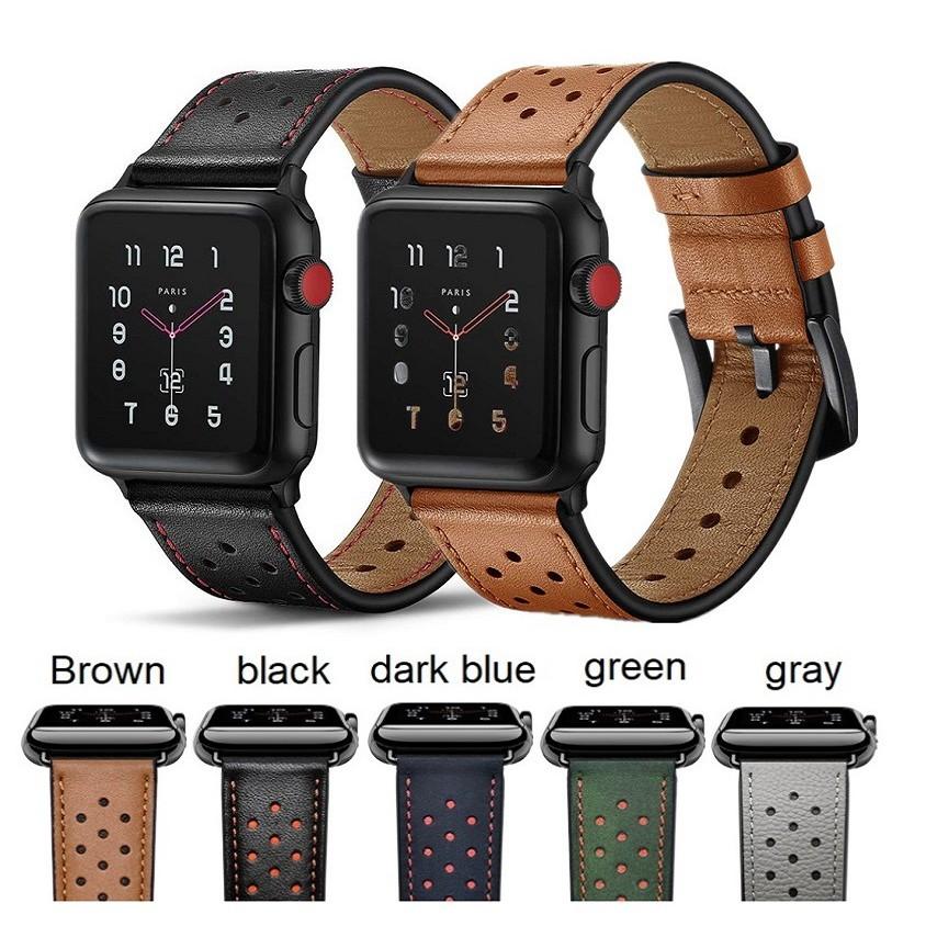 สายหนัง Apple Watch Band 42mm 44mm 40mm 38mm สายหนังแท้พรีเมี่ยม iWatch Apple Watch Series 6 5 4 3 2 1,  Apple Watch SE สาย Apple watch มีทุกขนาด ทุกSeries สายหนัง Leather Band