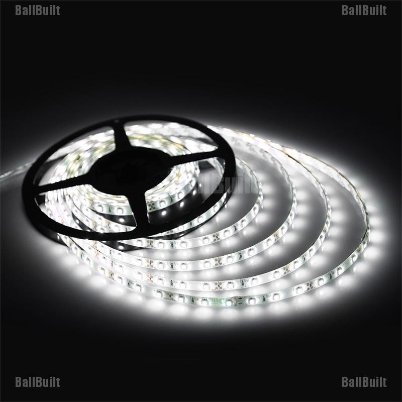 Waterproof Yellow 5M 300 Leds 3528 SMD LED Flexible Strip Light 12V DC Black PCB