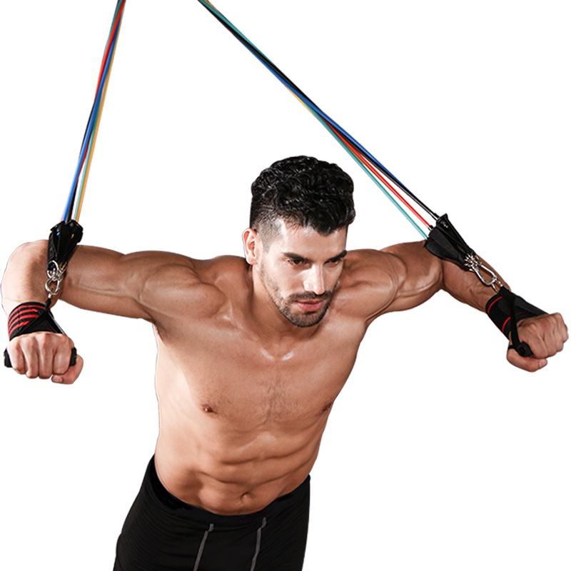 ยางยืดออกกําลังกาย▦❧Elastic rope male tension belt fitness เข็มขัดยางยืดหน้าอก การฝึกกล้ามเนื้อ แรงต้าน เชือก ความตึงเคร