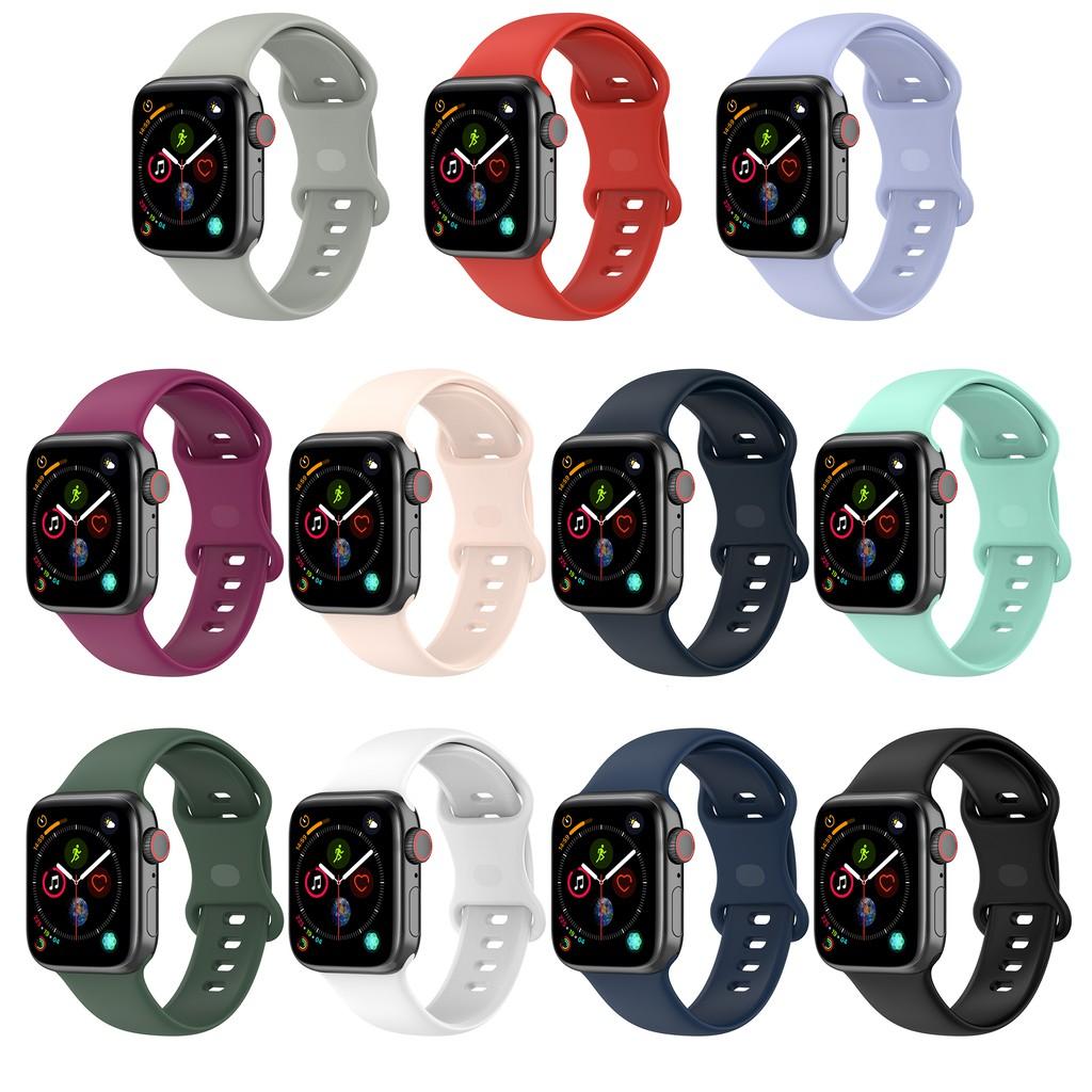 สายนาฬิกาข้อมือซิลิโคนสําหรับ Apple Watch Band 40 มม. 44 มม. 38 มม. 42 มม. Iwatch Series 1 2 3 4 5 6 Se