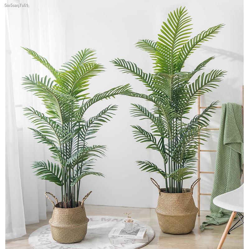 การจำลองพันธุ์ไม้อวบน้ำ∏การตกแต่งต้นไม้เทียมขนาดใหญ่นอร์ดิก พืชสีเขียวปลอมกระถางเครื่องประดับต้นไม้ฟีนิกซ์ทานตะวันSanwei