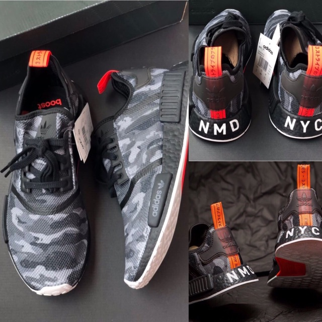00229e772  Adidas NMD R1 NYC Black Camo Red
