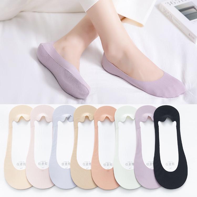 A.comfy ♡ ถุงเท้าคัชชูพาสเทล ถุงเท้าล่องหน ซ่อนในรองเท้า มีกันลื่น ราคาถูก 🔥 📦 พร้อมส่ง 🌈