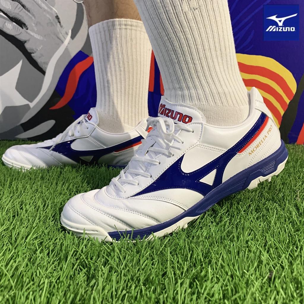 MizunoMizunoMORELIA II PROระดับhigh-endหนังจิงโจ้tfรองเท้าฟุตบอลหญ้าเทียม21รุ่น