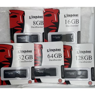 แฟลชไดร์ฟ 8GB/16GB/32GB/64GB/128GB/Kingston DataTraveler 100G3 USB/ 3.1 Flash Drive (DT100G3/8GB/16GB/32GB/64GB/128GB)