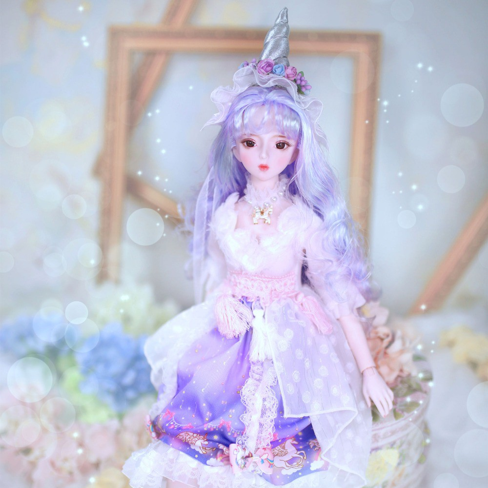 1//3 BJD Doll Party Dress Princess Girl Doll Clothes Dress up Accessory Blue