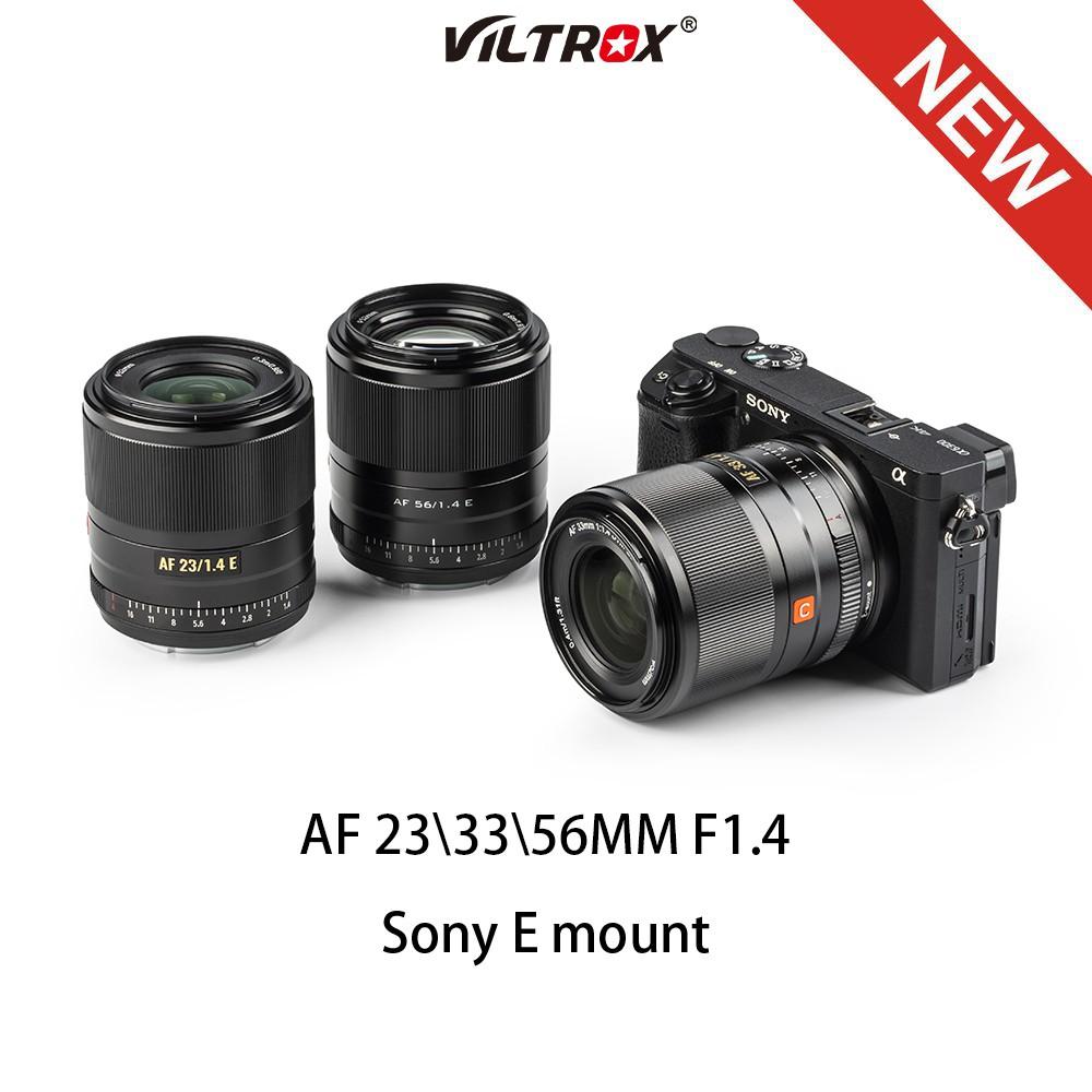 # เลนส์กล้องวิดีโอดิจิตอลVILTROX 23/33/56mm F1.4 E Auto Focus lens ASC Comact Large Aerture Lens for Sony Lens Emount  A