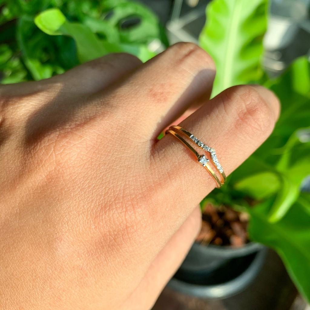 แหวนทองครึ่งสลึง ปอกมีด ลายเกลี้ยง 96.5% คละลาย น้ำหนัก (1.9 กรัม) ทองแท้ จากเยาวราช น้ำหนักเต็ม ราคาถูกที่สุด ส่งฟรี มี