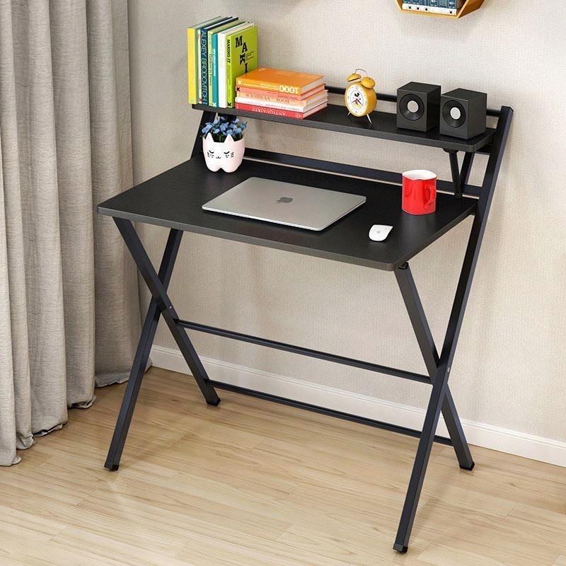 🔥สุดคุ้ม🔥HomePro+ โต๊ะทำงานไม้ พร้อมชั้นวาง พับได้ ไม่ต้องประกอบ 80x50x92.5cm โต๊ะคอม โต๊ะพับ ชั้นวาง ชั้นวางของ2