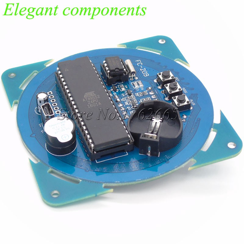 DS1302 Rotating LED Display Alarm Electronic Clock Module Temperature Display 5V