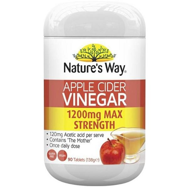 Nature's Way Apple Cider Vinegar 1200mg 90 เม็ด