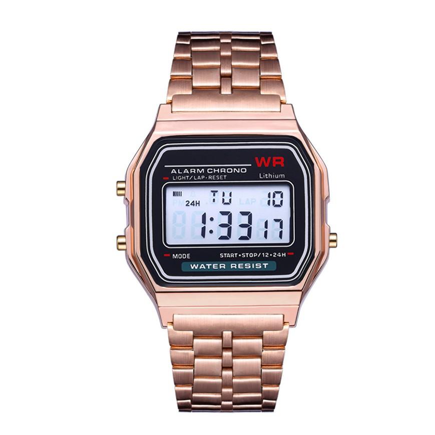 AMELIA Explosion A159W นาฬิกาดิจิตอล นาฬิกาแฟชั่น นาฬิกาข้อมือ ผู้หญิง สายสแตนเลส (พร้อมส่ง) AW059