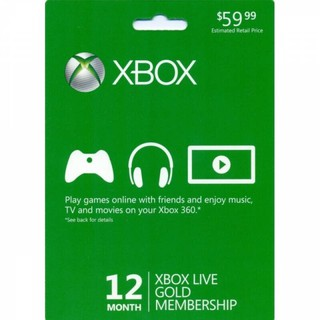 Xbox Live Gold 12 Months Membership (US) Code