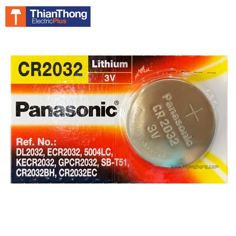 BAM__SHOP อุปกรณ์ให้แสงสว่าง Panasonic Battery Lithium ถ่านกระดุม พานาโซนิค ราคาต่อ 1 อัน - รุ่น CR2032 โคมไฟ