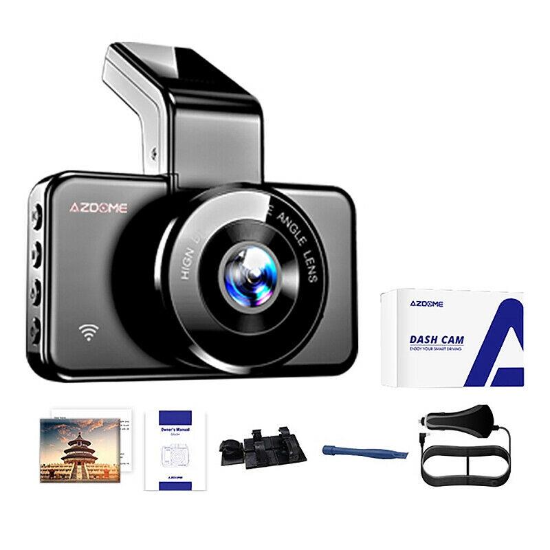 azdomer m 17 กล้องบันทึกวิดีโอ dvr f 1080 p dashcam 24 h หน้าจอมอนิเตอร์สําหรับติดรถยนต์ f9n 9n 9
