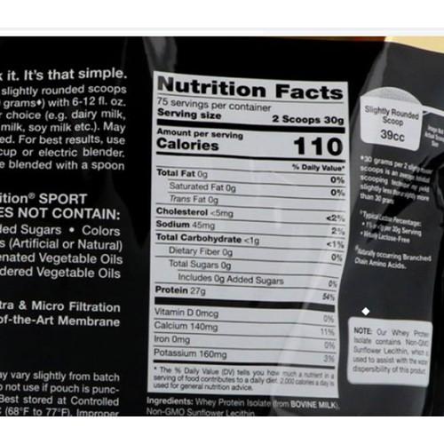 เวย์โปรตีนไอโซเลท California Gold Nutrition แบ่งขาย450กรัม เวย์โปรตีนIsolate สูตรคลีน ลดน้ำหนัก สร้างกล้ามเนื้อ